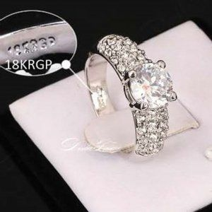 Diane Pave Ring with 1k AAA CZ Diamond 18K Gold